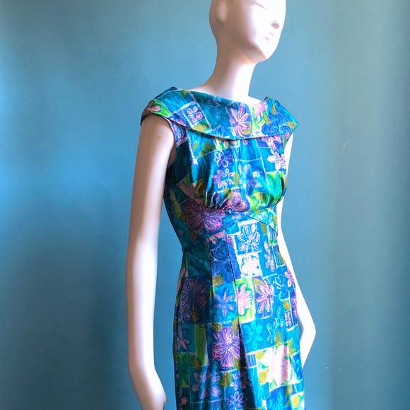 Lauhala Dresses & Skirts - 1960s Lauhala Hawaai Long Mod Print Long Dress XXS